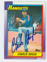 Charlie Hough AUTOGRAPH 1990 Topps Rangers 