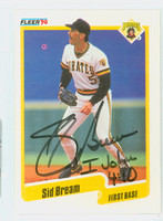 Sid Bream AUTOGRAPH 1990 Fleer Pirates 