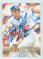 Mike Blowers AUTOGRAPH 1997 Fleer Dodgers 