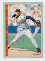 Mike Henneman AUTOGRAPH 1993 Fleer Tigers 