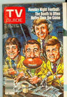 1980 TV Guide Nov 29 Monday Night Football (Cover by Jack Davis) Detroit edition Excellent - No Mailing Label  [Lt wear on both covers, contents fine]