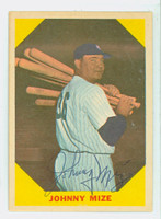 Johnny Mize AUTOGRAPH d.93 1960 Fleer Greats #38 Yankees 