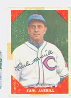 Earl Averill AUTOGRAPH d.83 1960 Fleer Greats #71 Indians 