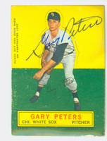 Gary Peters AUTOGRAPH 1964 Topps Stand-ups #56 White Sox CARD IS F/G; SURF WEAR, AUTO CLEAN