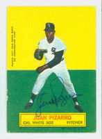 Juan Pizarro AUTOGRAPH 1964 Topps Stand-ups #58 White Sox CARD IS CLEAN VG/EX, CRN WEAR