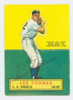 Lee Thomas AUTOGRAPH 1964 Topps Stand-ups #71 Colts CARD IS CLEAN VG/EX, CRN WEAR