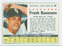 Frank Baumann AUTOGRAPH 1961 Post #34 White Sox BOX CARD IS CLEAN EX
