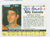 Billy Consolo AUTOGRAPH d.08 1961 Post #100 Twins BOX CARD IS G/VG; CRN WEAR, LT CREASE; AUTO CLEAN