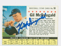 Gil McDougald AUTOGRAPH d.10 1961 Post #10 Yankees BOX CARD IS CLEAN VG