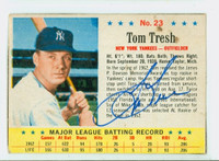 Tom Tresh AUTOGRAPH d.08 1963 Post #23 Yankees CARD IS G/VG; CRN WEAR, LT STAINS, AUTO CLEAN