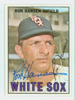 Ron Hansen AUTOGRAPH 1967 Topps #9 White Sox CARD IS CLEAN EX