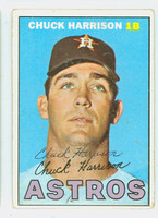 Chuck Harrison AUTOGRAPH 1967 Topps #8 Astros CARD IS VG; CRN WEAR