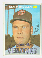 Ken McMullen AUTOGRAPH 1967 Topps #47 Senators CARD IS CLEAN EX
