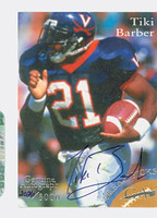 Tiki Barber AUTOGRAPH Grand Achievements 2026/5000 CERTIFIED 