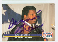 Dennis Green AUTOGRAPH d.16 1993 Pro Set Vikings 