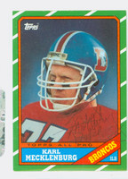 Karl Mecklenburg AUTOGRAPH 1986 Topps Football Broncos CARD IS NM/MT