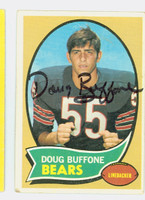 Doug Buffone AUTOGRAPH d.15 1970 Topps Football #163 Bears CARD IS VG; AUTO CLEAN