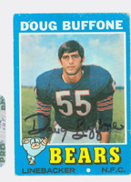 Doug Buffone AUTOGRAPH d.15 1971 Topps Football #126 Bears CARD IS G/VG: CRN WEAR, LT CREASE