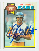 John Cappelletti AUTOGRAPH 1979 Topps Football #18 Rams CARD IS VG/EX