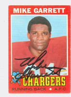Mike Garrett AUTOGRAPH 1971 Topps Football #119 Chargers CARD IS CLEAN EX