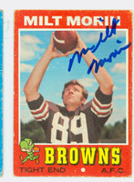 Milt Morin AUTOGRAPH d.10 1971 Topps Football #249 Browns CARD IS VG
