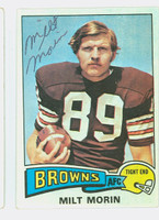 Milt Morin AUTOGRAPH d.10 1975 Topps Football #374 Browns CARD IS CLEAN EX