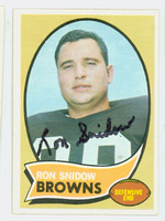 Ron Snidow AUTOGRAPH d.09 1970 Topps Football #194 Browns CARD IS CLEAN EX