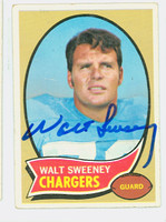 Walt Sweeney AUTOGRAPH d.13 1970 Topps Football #173 Chargers CARD IS F/P; CREASING