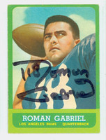 Roman Gabriel AUTOGRAPH 1963 Topps Football #37 Rams CARD IS CLEAN VG/EX
