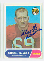 Sherrill Headrick AUTOGRAPH d.08 1968 Topps Football #96 Bears CARD IS CLEAN EX