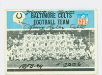 Lenny Lyles AUTOGRAPH d.11 1966 Philadelphia Colts Team Card CARD IS F/P; SURF WEAR, CREASES