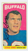 George Saimes AUTOGRAPH d.13 1965 Topps Football #39 Bills Single Prints CARD IS F/P; CREASES