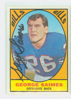 George Saimes AUTOGRAPH d.13 1967 Topps Football #26 Bills CARD IS SHARP EX/MT