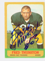 Fuzzy Thurston AUTOGRAPH d.14 1963 Topps Football #90 Packers CARD IS CLEAN EX
