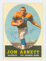 Jon Arnett AUTOGRAPH 1958 Topps Football #20 Rams CARD IS CLEAN EX