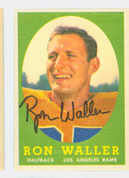 Ron Waller AUTOGRAPH 1958 Topps Football #72 Rams CARD IS SHARP EX/MT