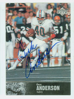 Dick Anderson AUTOGRAPH 1997 Upper Deck NFL Alumni Dolphins 