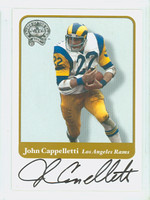 John Cappelletti AUTOGRAPH Fleer Greats of the Game Rams CERTIFIED 