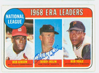 Bob Bolin AUTOGRAPH 1969 Topps NL ERA Leaders #8 Giants 