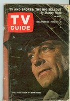 1967 TV Guide Feb 4 Dale Robertson of the Iron Horse Louisiana edition Fair to Poor - No Mailing Label  [Cover nearly completely detached, heavy creasing, tears at staples; contents fine]