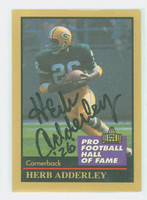 Herb Adderley AUTOGRAPH 1991 Pro Football Hall of Fame card Packers HOF '80 