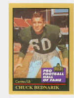Chuck Bednarik AUTOGRAPH d.15 1991 Pro Football Hall of Fame card Eagles HOF '67 