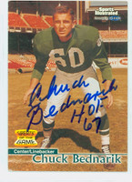 Chuck Bednarik AUTOGRAPH d.15 1999 Fleer Greats of the Game Eagles HOF '67 