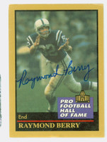 Raymond Berry AUTOGRAPH 1991 Pro Football Hall of Fame card Colts HOF '73 