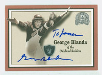George Blanda AUTOGRAPH d.10 2000 Fleer Greats of the Game Raiders HOF '81 