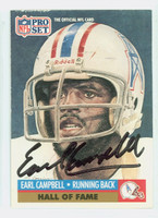 Earl Campbell AUTOGRAPH 1991 Pro Set Oilers HOF '91 