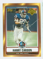 Harry Carson AUTOGRAPH 2006 Topps Giants HOF '06 