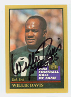 Willie Davis AUTOGRAPH 1991 Pro Football Hall of Fame card Packers HOF '81 