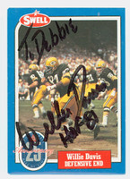 Willie Davis AUTOGRAPH 1988 Swell Packers HOF '81 