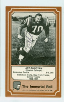 Art Donovan AUTOGRAPH d.14 1974 Fleer Immortal Roll #25 Colts HOF '68 